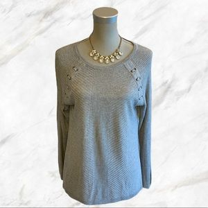 4/$30 🌺 Tanjay | Shoulder Detailed Gray Sweater